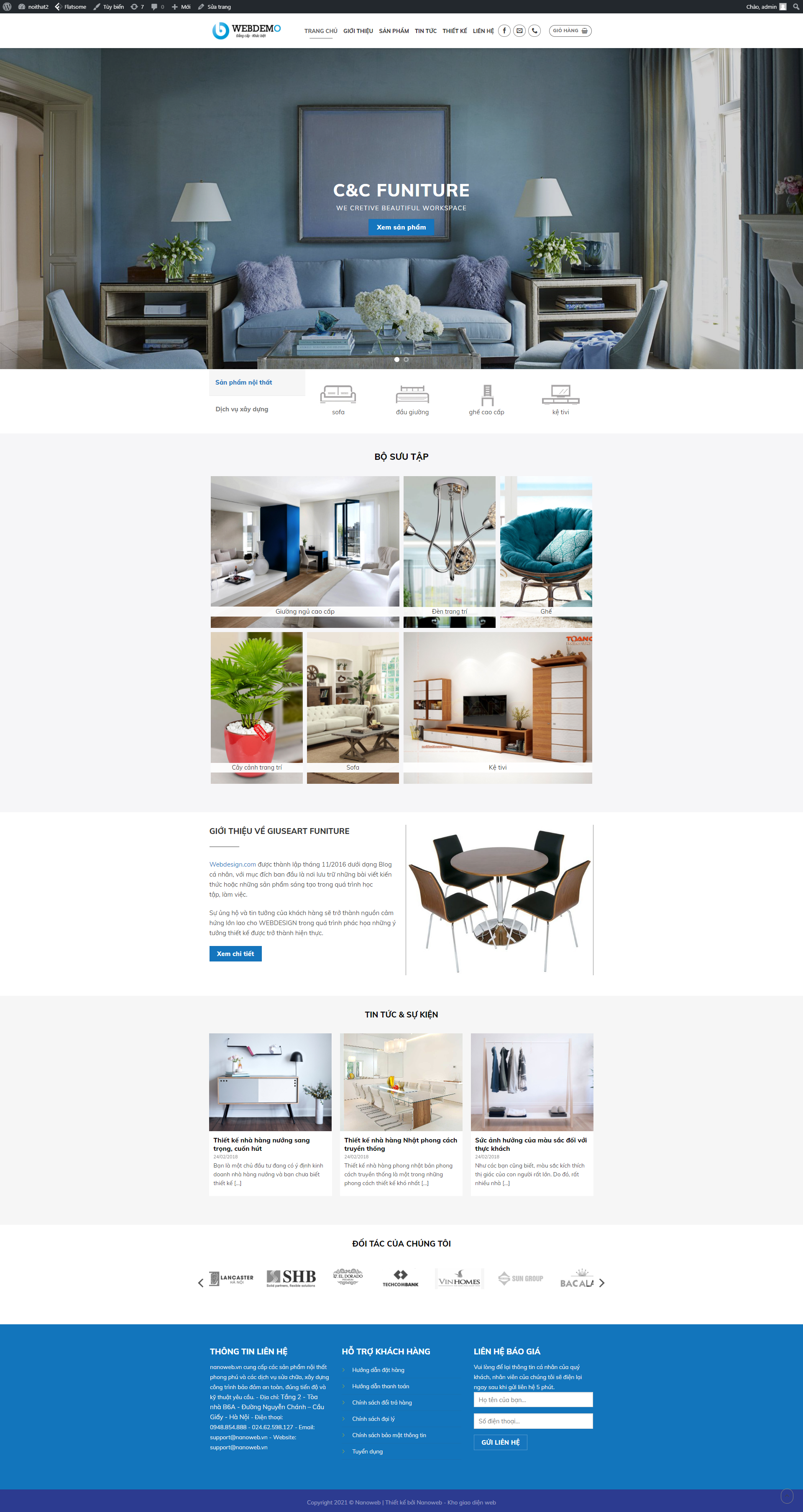 Website thiết kế nội thất 2s