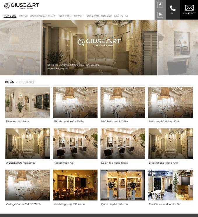 Website thiết kế nội thất 1