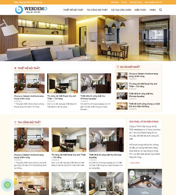 Website thiết kế nội thất 5