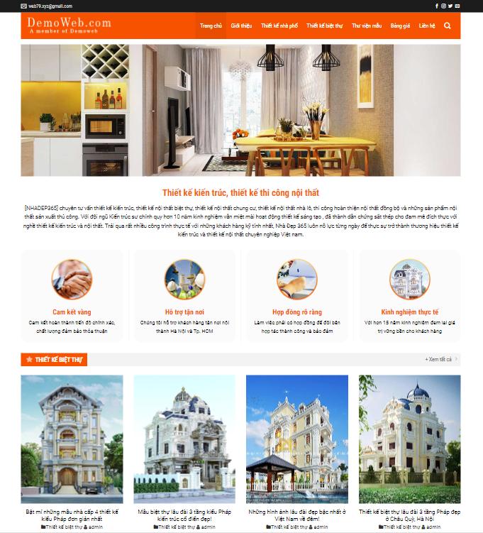 Website thiết kế nội thất 6