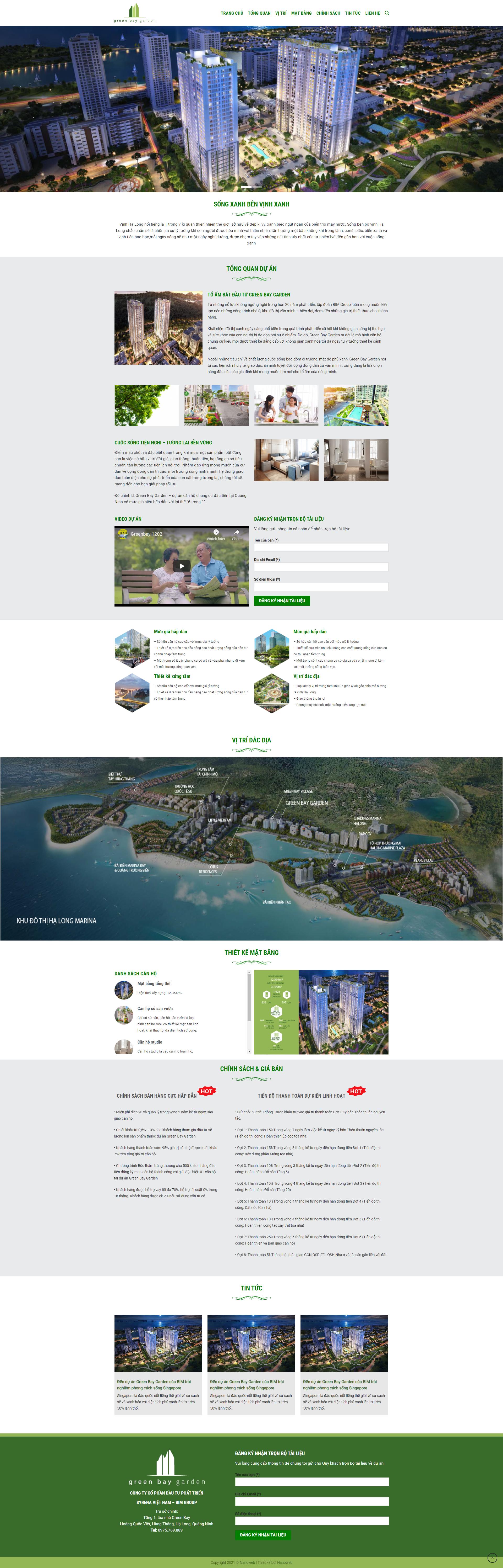 Web bất động sản GreenBay