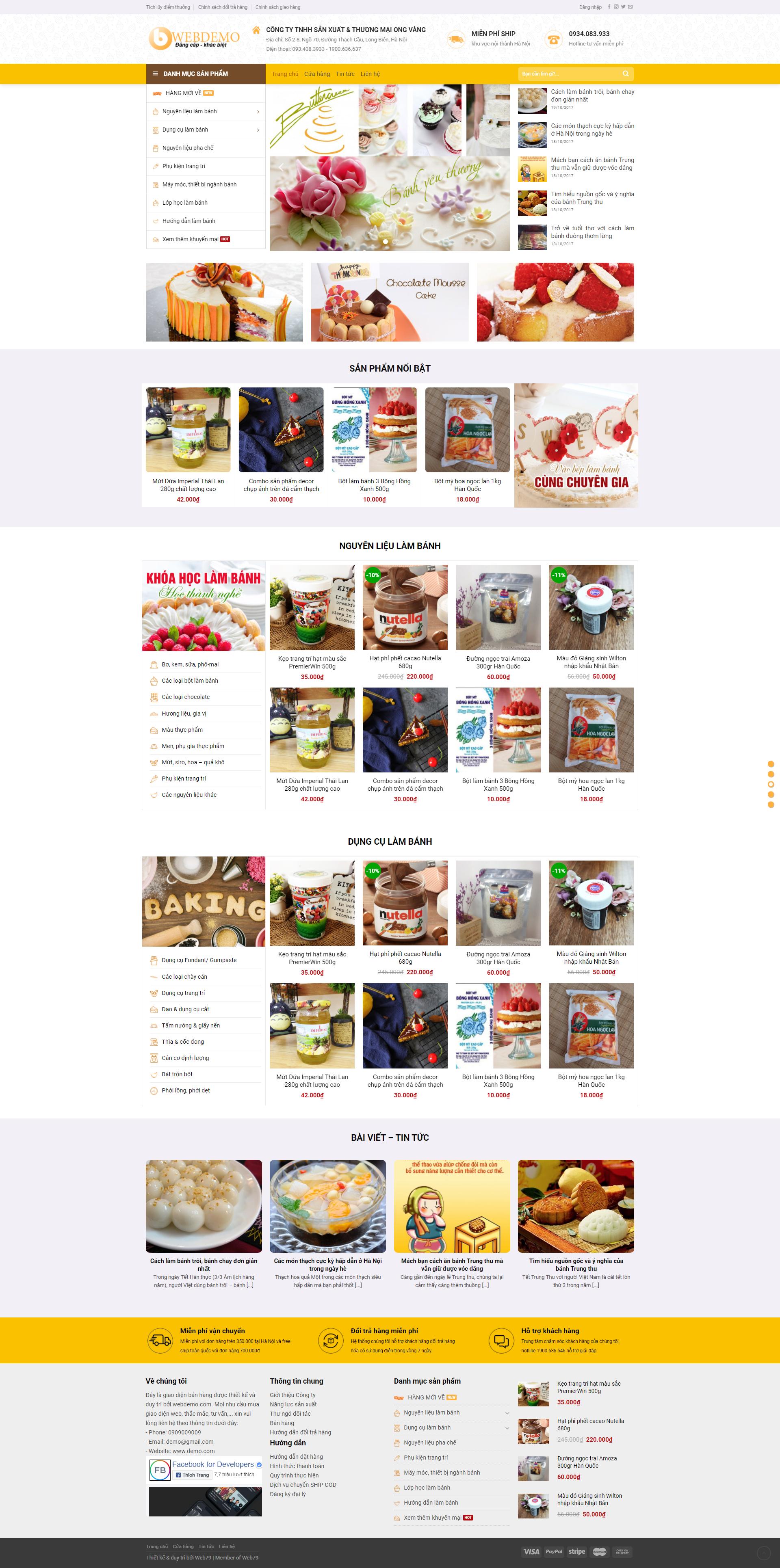 Web bán bánh ngọt 1